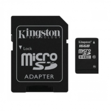 Карта памяти Kingston microSDHC 16GB Class 10 UHS-I R45/W10MB/s + SD адаптер