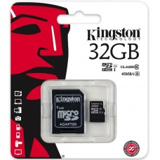 Карта памяти Kingston microSDHC 32GB Class 10 UHS-I R45/W10MB/s + SD адаптер