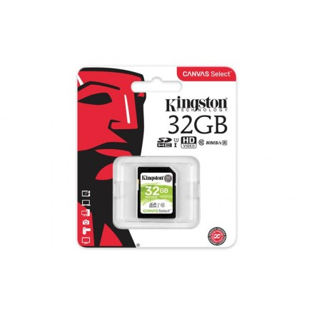 Карта памяті Kingston 32GB SDHC C10 UHS-I R80MB/s
