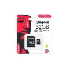Карта памяті Kingston 32GB microSDHC C10 UHS-I R80MB/s + SD адаптер