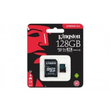 Карта пам`яті  Kingston 128GB microSDXC C10 UHS-I U3 R90/W45MB/s Canvas Go + adapter