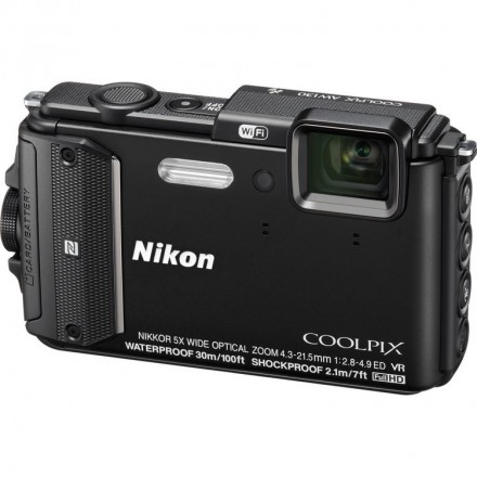 Цифр. фотокамера Nikon Coolpix AW130 Black