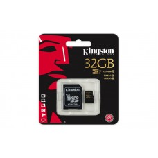 Карта памяти Kingston microSDHC 32GB Class 10 UHS-I R90/W45MB/s + SD адаптер