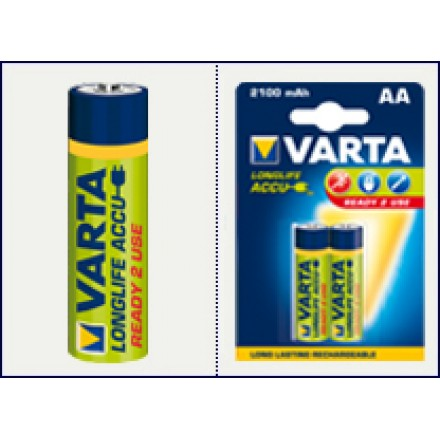 Аккумулятор VARTA RECHARGEABLE ACCU AA 2100mAh BLI 2 NI-MH (READY 2 USE)