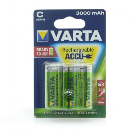 Аккумулятор VARTA RECHARGEABLE ACCU C 3000mAh BLI 2 NI-MH (READY 2 USE)