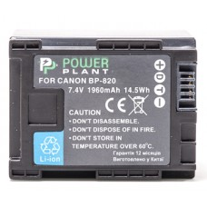 Aккумулятор PowerPlant Canon BP-820 Chip